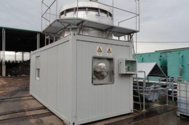 Pilotne bioplinska naprava za proizvajanje bioplina iz komposta